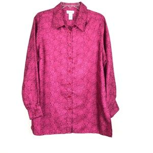 Avenue Womens Button down Long Sleeve Shirt XK